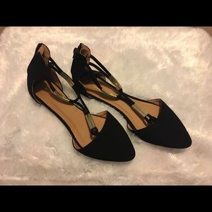 Qupid black suede flats. Size 8.5